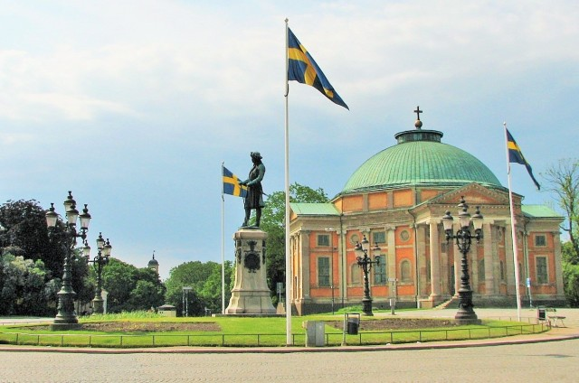 Town Square in Karlskrona with the German Church, Sweden. Conference in Sweden, incentive cruises to Sweden – Hit The Road Travel