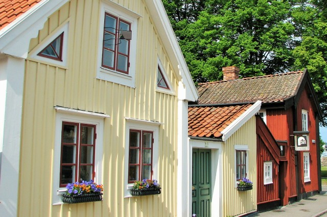 Old Town in Kalmar. Weekend trip to Sweden, Sweden tours