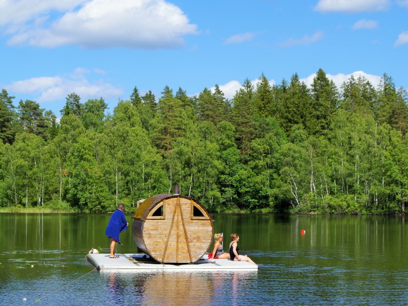 Sauna on a raft. Fishing expeditions to Sweden, fishing trips to Sweden – Hit The Road Travel