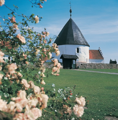 Round church in Nyker, Bornholm, Denmark. Bornholm tours – Hit The Road Travel