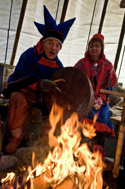 Joiking in Sami village. Northern lights tours, winter trips to Norway – Hit The Road Travel