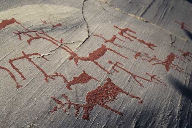 Rock engravings in Hjemmeluft, Alta, Norway. North Cape tours, trips to Norway – Hit The Road Travel