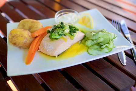 Dishes of Norwegian salmon. Northern lights tours, winter trips to Norway – Hit The Road Travel