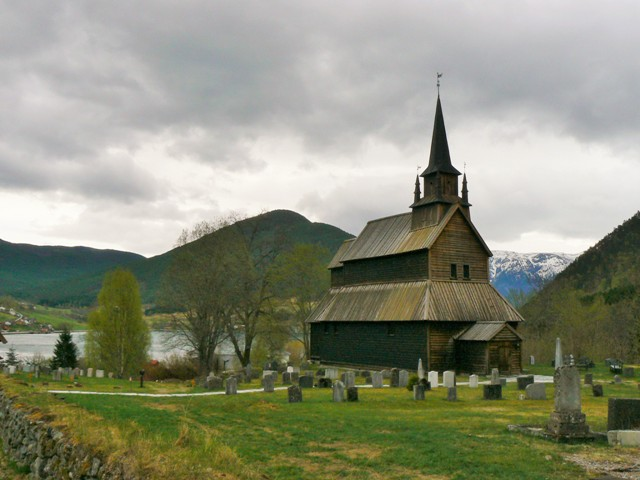 Stave church in Kaupanger, Norway. Norway tours – Hit The Road Travel
