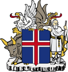 the coat of arms of Iceland