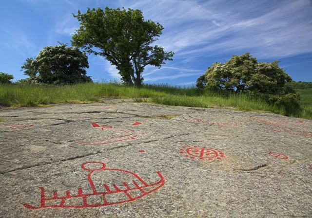 Madsebakke rock engravings, Bornholm, Denmark. Bornholm tours – Hit The Road Travel