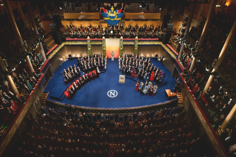 The Nobel Prize ceremony at the Stockholm Concert Hall, Sweden