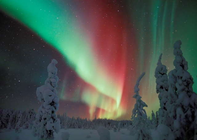 Northern lights, Finland. Santa Claus trips, Rovaniemi tours