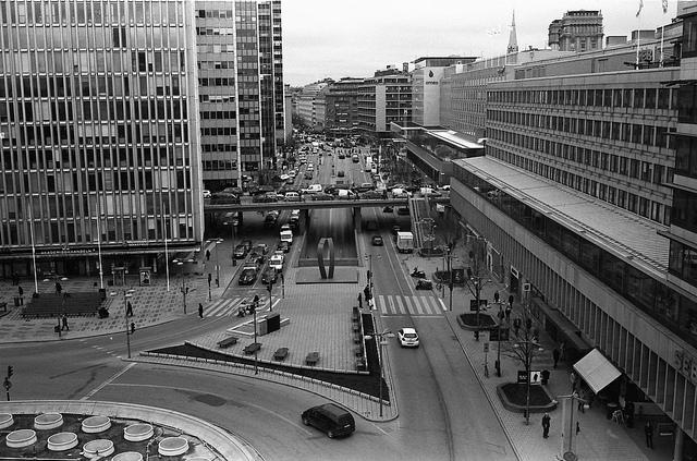 Sveavägen, Sztokholm. Zwiedzanie Sztokholmu śladami zespołu ABBA