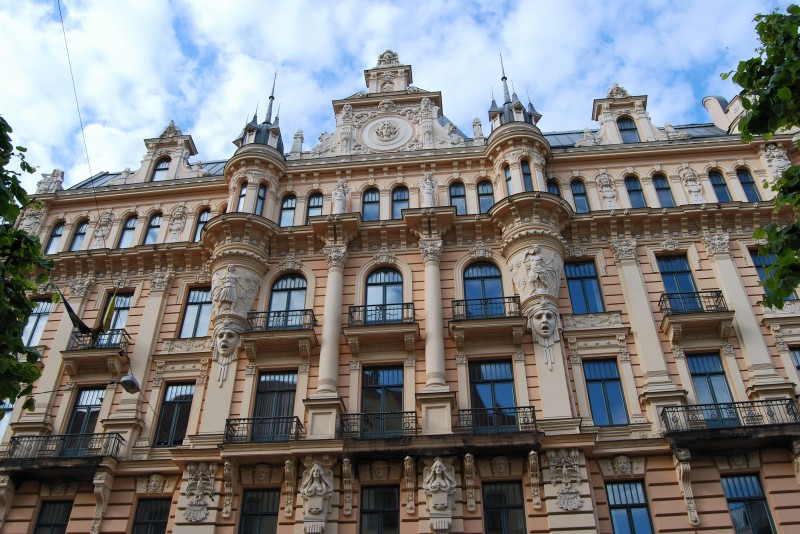 Art Nouveau townhouse in Riga. Tours of the Baltic States, Helsinki tours – Hit The Road Travel