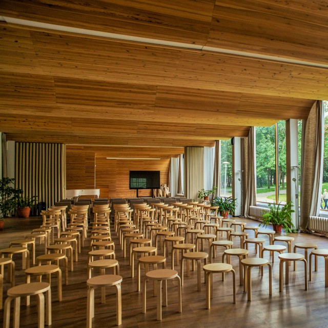 The library in Vyborg designed by Alvar Aalto with famous Artek stools, Russia. Tours of the Baltic States, Helsinki tours – Hit The Road Travel
