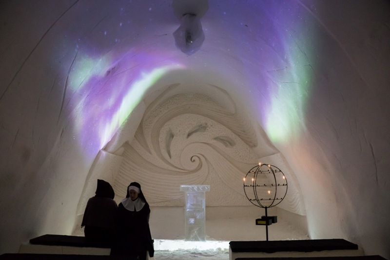 Snow Chapel, Kemi, Finland. Santa Claus trips, Rovaniemi tours