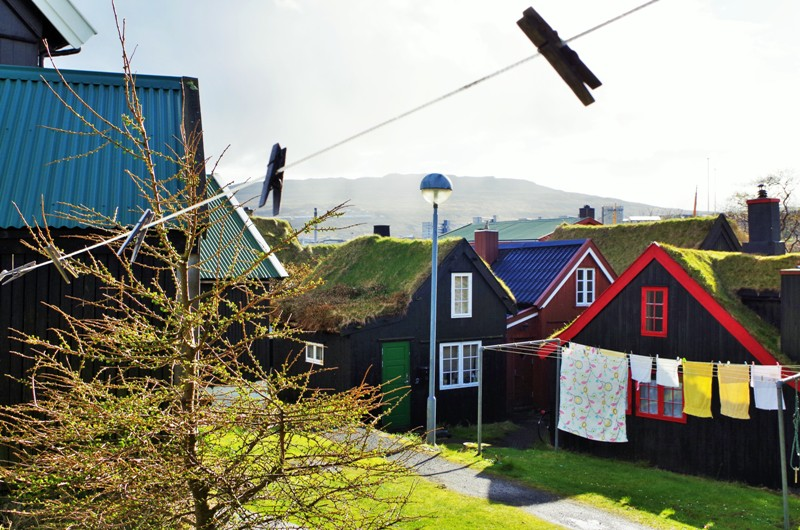 The historical houses in Reyn district in Tórshavn. The Faroes - Hit The Road Travel