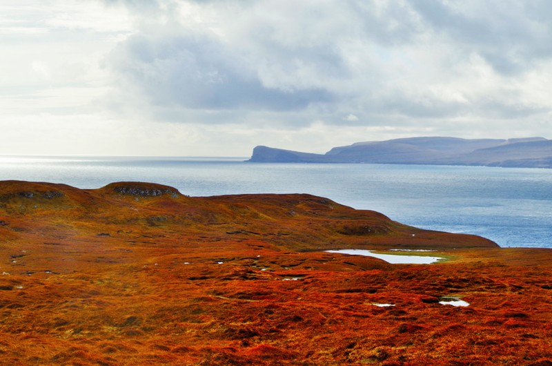 A view of the Streymoy Island seen from the Nólsoy Island. The Faroes - Hit The Road Travel