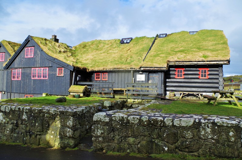 Kirkjubøargarður – the world's oldest house in Kirkjubøur, the Streymoy Island. The Faroes - Hit The Road Travel
