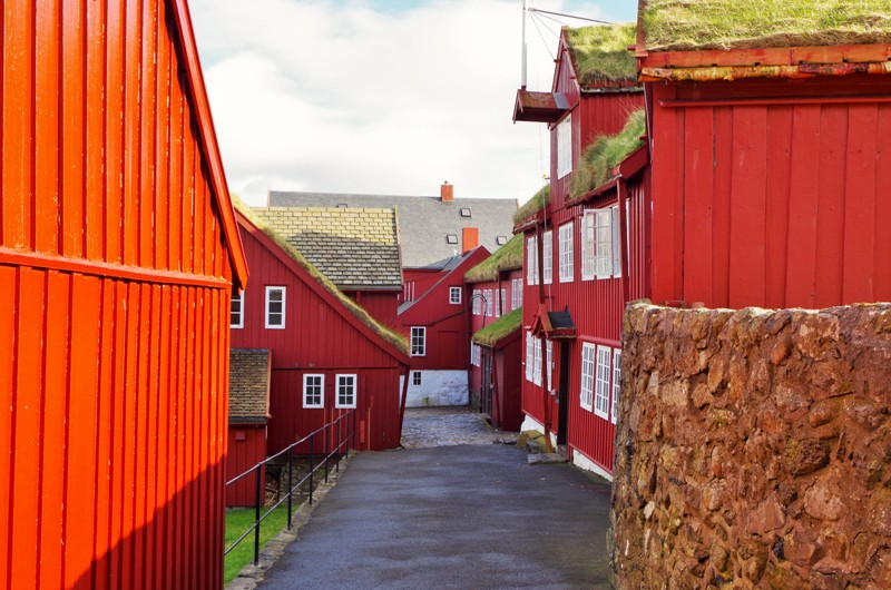 Tinganes – the governmental buildings in the Old Town part of Tórshavn, the Faroe Islands. Hit The Road Travel