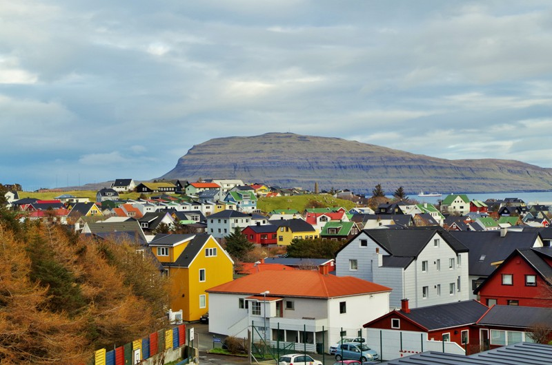 Tórshavn, The Faroe Islands. The Nólsoy in the background. Hit The Road Travel