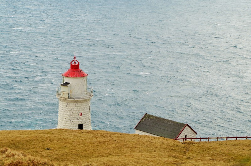 The lighthouse on the Nólsoy Island. The Faroes - Hit The Road Travel
